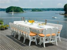 Seaside Casual Composite Table with Benches