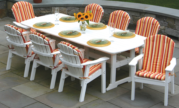 Seaside Casual 42 X 100 Inch Portsmouth Table W 8 Shellback Dining Chairs
