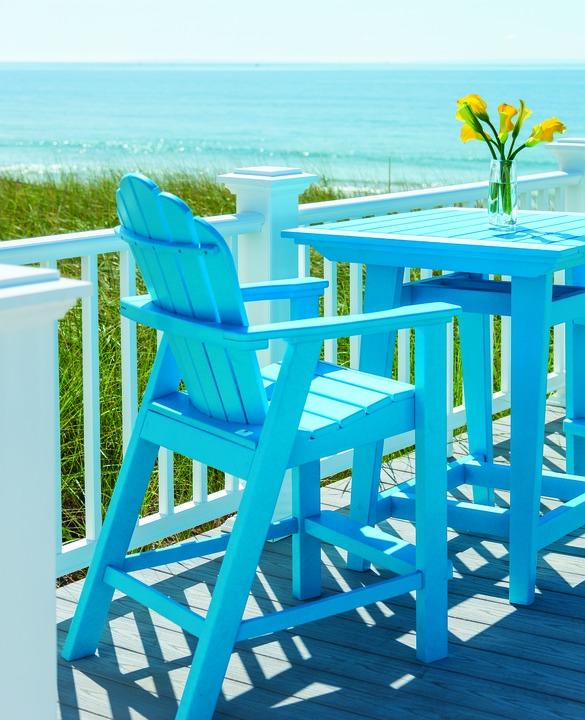 Seaside Casual Adirondack Classic Chair   Pool Blue