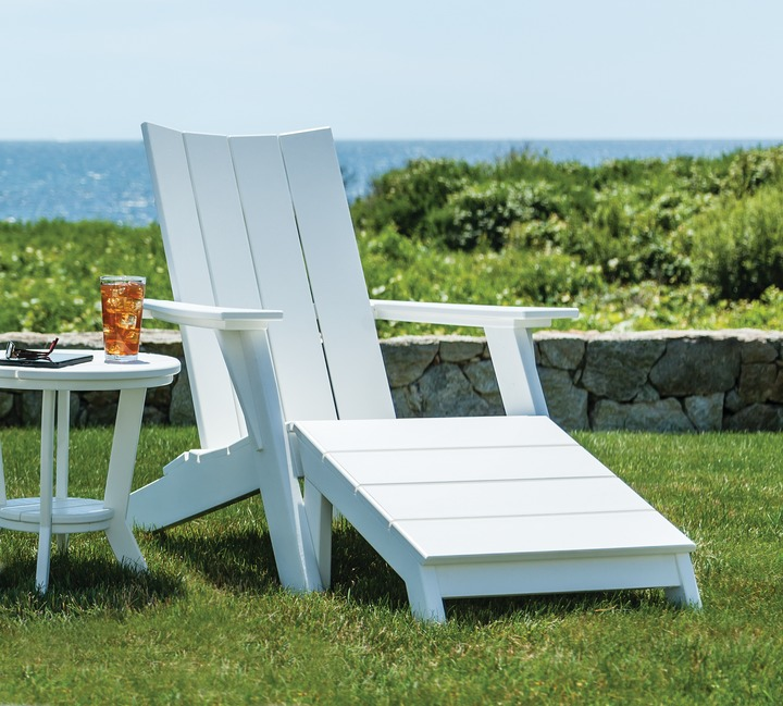 Beau Seaside Casual Furnitureu0027s MADirondack Chair In White W/optional Footstool