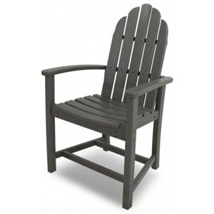 One Polywood Adirondack Chair shown in gray with a white background.