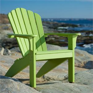 Coastline Adirondack Leaf Green Seaside Casualu0027s Coastline Adirondack Chair  ...