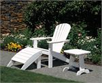 An adirondack chair with and ottoman and side table by Seaside Casual -GottaHaveItInc.com
