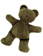 Soft plush heatable bear by grampas garden
