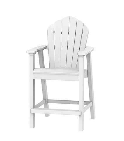 Seaside Casual Adirondack Clic Balcony Chair White