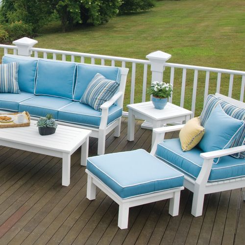 Seaside Casual Nantucket Ottoman 094, Seaside Casual Furniture