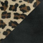 Black Fluff fabric with Leopard fabric
