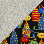 Oatmeal fabric and Party Cats Fabric