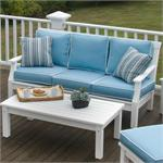 Nantucket Sofa shown on a deck  made by Seaside Casual Furniture.Sold by GottaHaveItInc.com